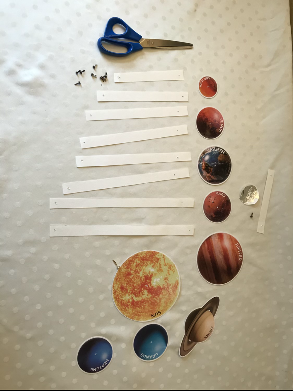 Material required for Solar system