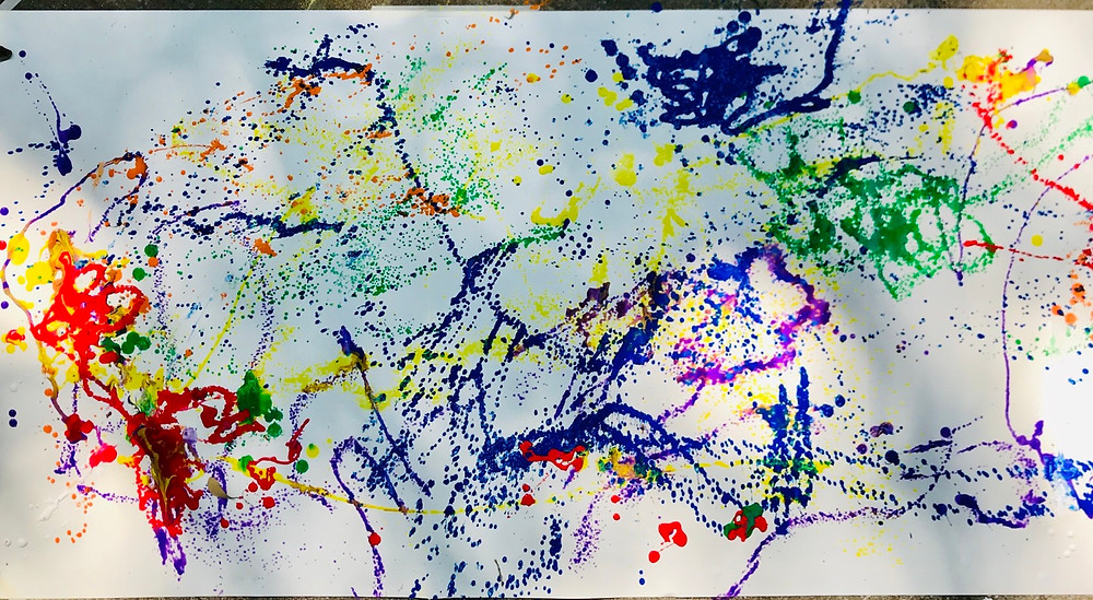 Creativity inspired by Jackson Pollock