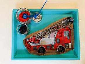 Fire truck sensory puzzle