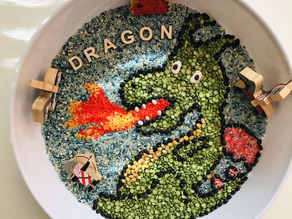 Dragon sensory bin