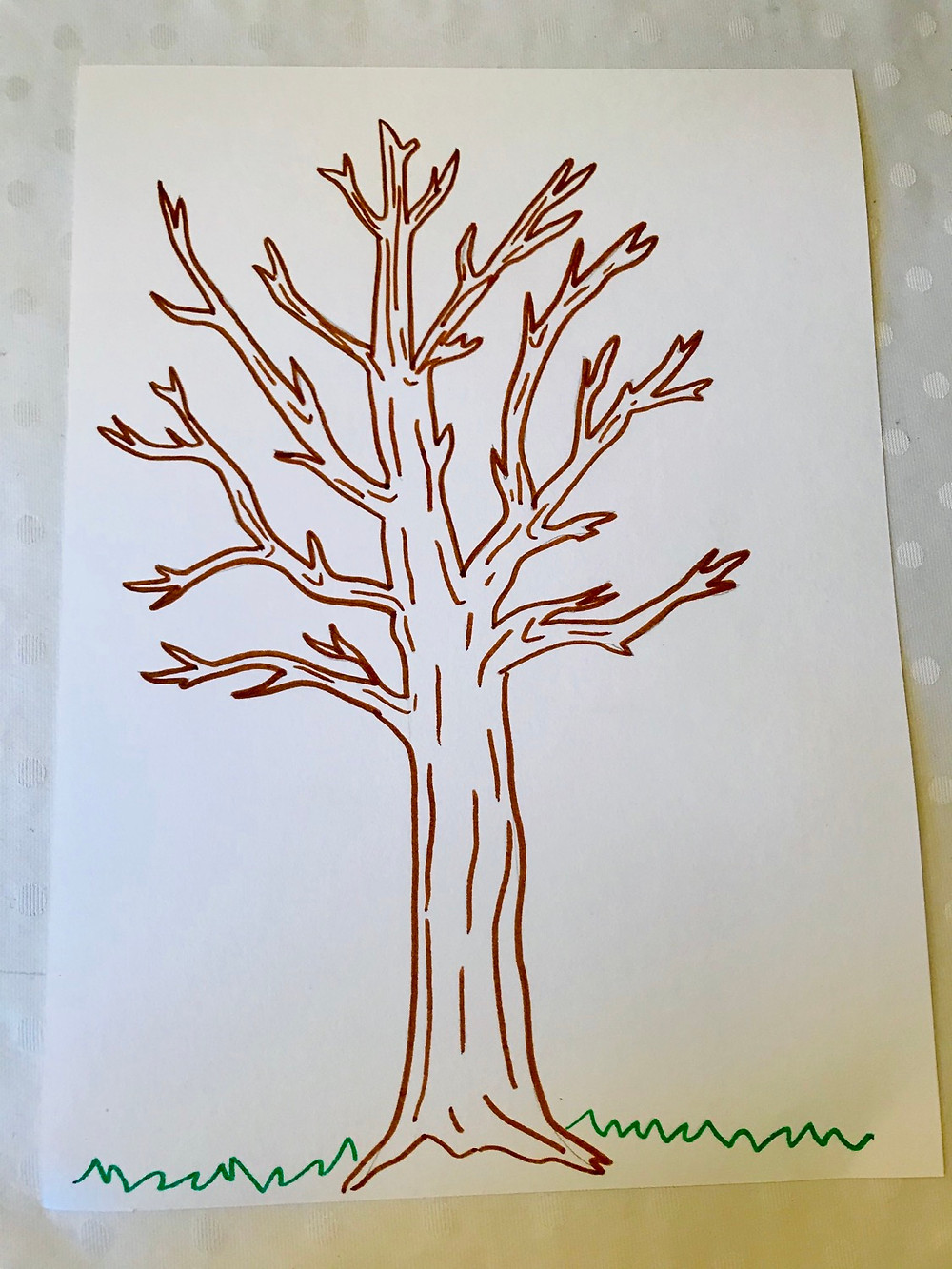 Drawing of a bare tree