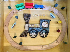 Train sensory bin