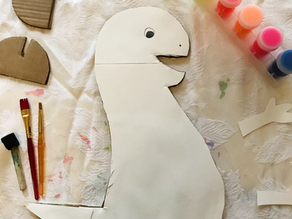 Dino cardboard art