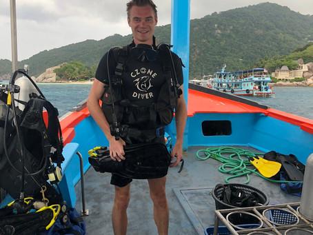Underwater in Koh Tao
