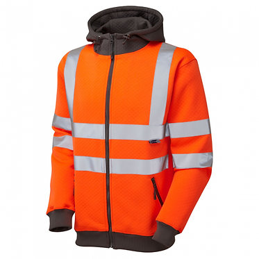 Saunton ISO 20471 Class 3 Full Zip Hooded Sweatshirt EXSS02