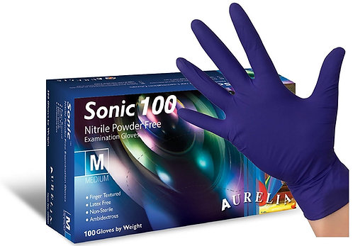 Aurelia Sonic Cobalt Blue Nitrile Examination Gloves EX93775 (Box of100)