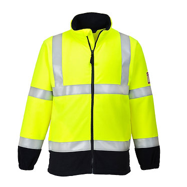Flame Resistant Anti-Static Hi-Vis Fleece Yellow EXFR31YER
