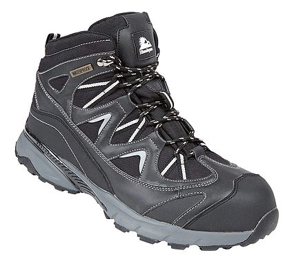 EX5222 Himalayan Black Waterproof Safety Hiker Boot with Midsole
