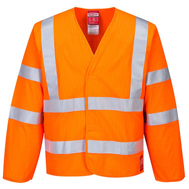 Hi-Vis Anti Static Jacket - Flame Resistant EXFR85