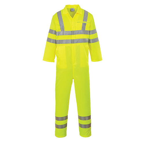 Hi-Vis Poly-cotton Coverall Yellow EXE042