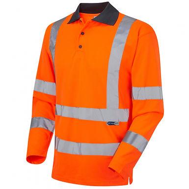 LEO WOOLSERY Coolviz Sleeved Polo Shirt (EcoViz)