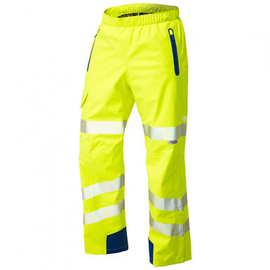 Lundy ISO 20471 Class 2 High Performance Waterproof Overtrouser EXL20