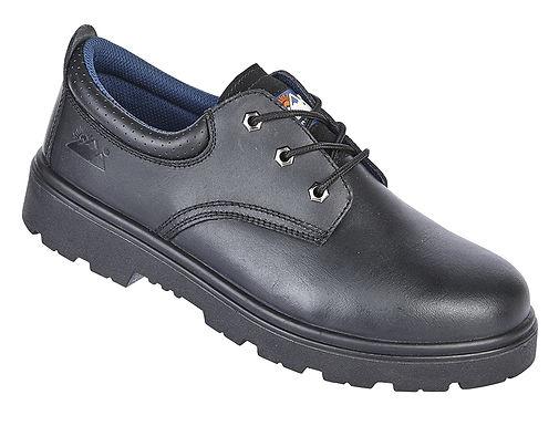 EX1410 Toesavers Black Leather 3 Eyelet Safety Shoe