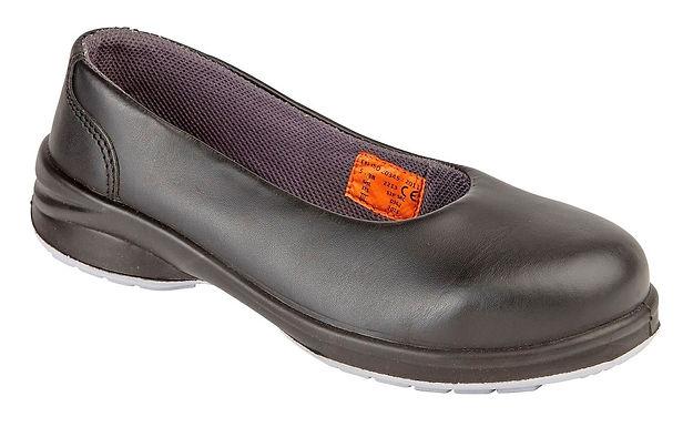 EX2213Himalayan Ladies S1P Black Star Court Shoe with Midsole