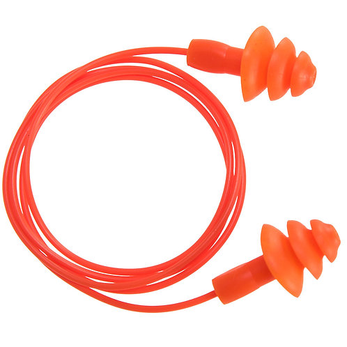 Portwest EP04 - Reusable Corded TPR Ear Plug ( 50 pairs)