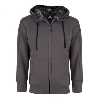 Crane Fur Lined Hooded Sweatshirt EX1285