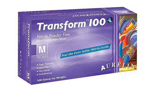 Aurelia Transform Ice Blue Nitrile Examination Gloves EX9889A (Box of 100)