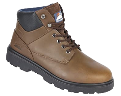 EX1201 Brown Nubuck Safety Boot with Midsole