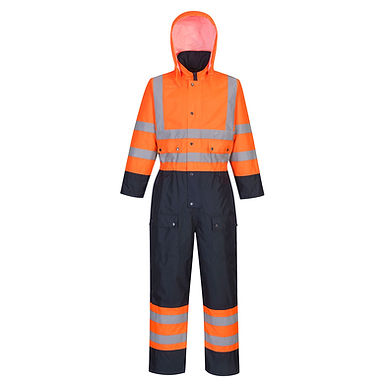 Hi-Vis Contrast Coverall - Lined EXS485