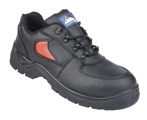 EX3413 Toesavers Black/Red Leather Safety Trainer