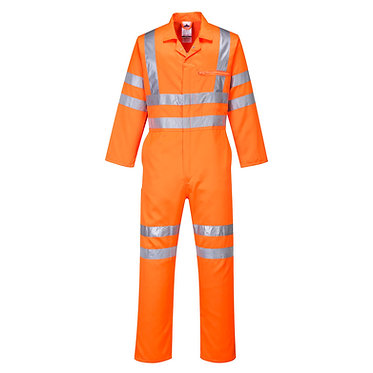 Hi-Vis Poly-cotton Coverall RIS Orange EXRT42