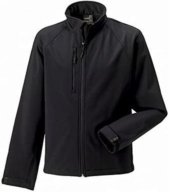 Russell Men's Soft Shell Jacket Black L