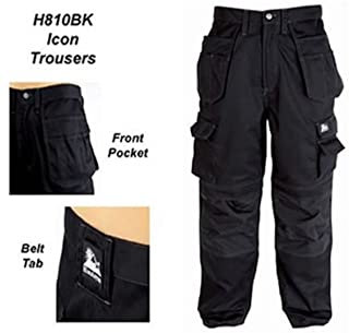 Icon Black Work Trouser 36W 33L