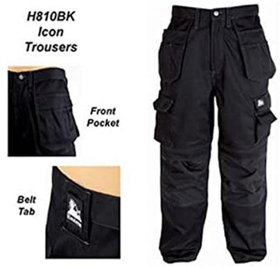 Icon Black Work Trouser 36W 33L
