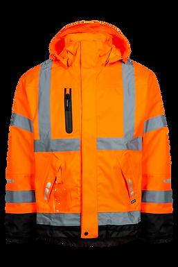 Lyngsoe Fox Hi-Vis Waterproof Breathable Jacket
