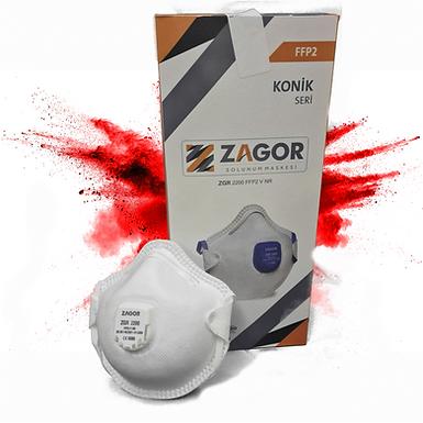 Zagor FFP2 Valved EN149:2001 + A1:2009 Respiratory Masks (20 Box)