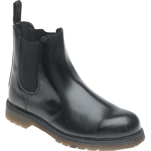 EXAC-03 Toesavers Black Leather Safety Dealer Boot