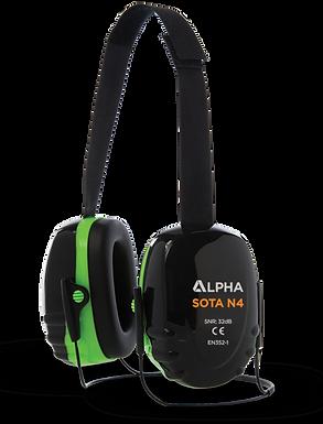 Alpha SOTA N4 Medium Attenuation Behind Neck Ear Defender 32dB SNR
