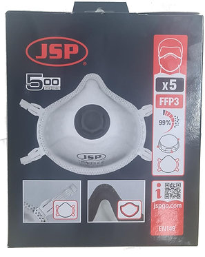 JSP BEK130-002-M00 FFP3V Disposable Respirator (5 Box)