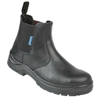 EX151BHimalayan Black Leather Dealer Safety Boot