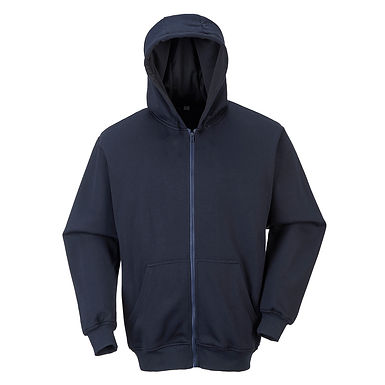 FR Zip Front Hooded Sweatshirt Navy EXFR81NAR