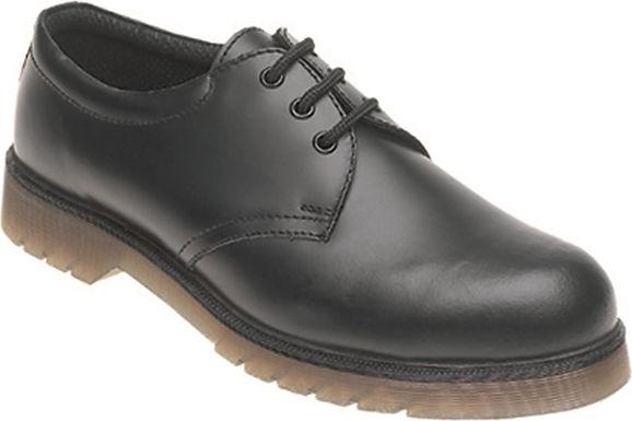 EXAC02Toesavers Black Leather Safety Shoe
