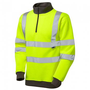 Brynsworthy ISO 20471 Class 3 1/4 Zip Sweatshirt EXSS01