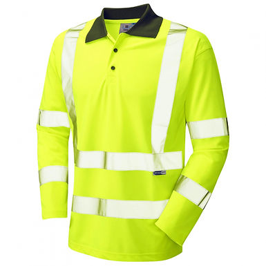 Woolsery ISO 20471 Class 3 Coolviz Sleeved Polo Shirt EXP06