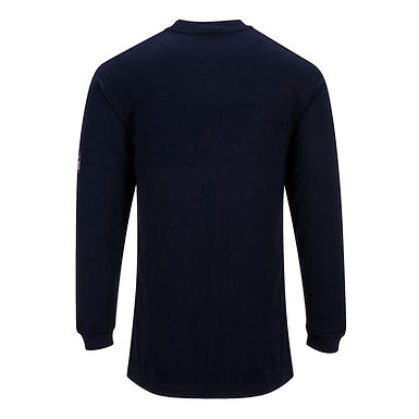 Flame Resistant Anti-Static Long Sleeve T-Shirt Navy EXFR11NAR