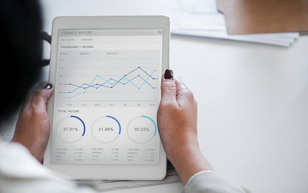 Statistics, data, business, graph, charts, efficient