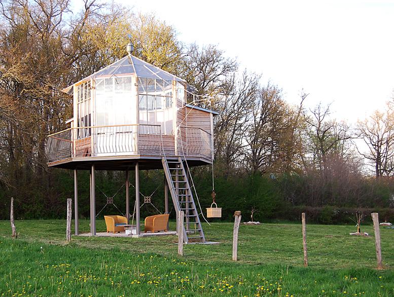 nid aux étoiles: terrasse