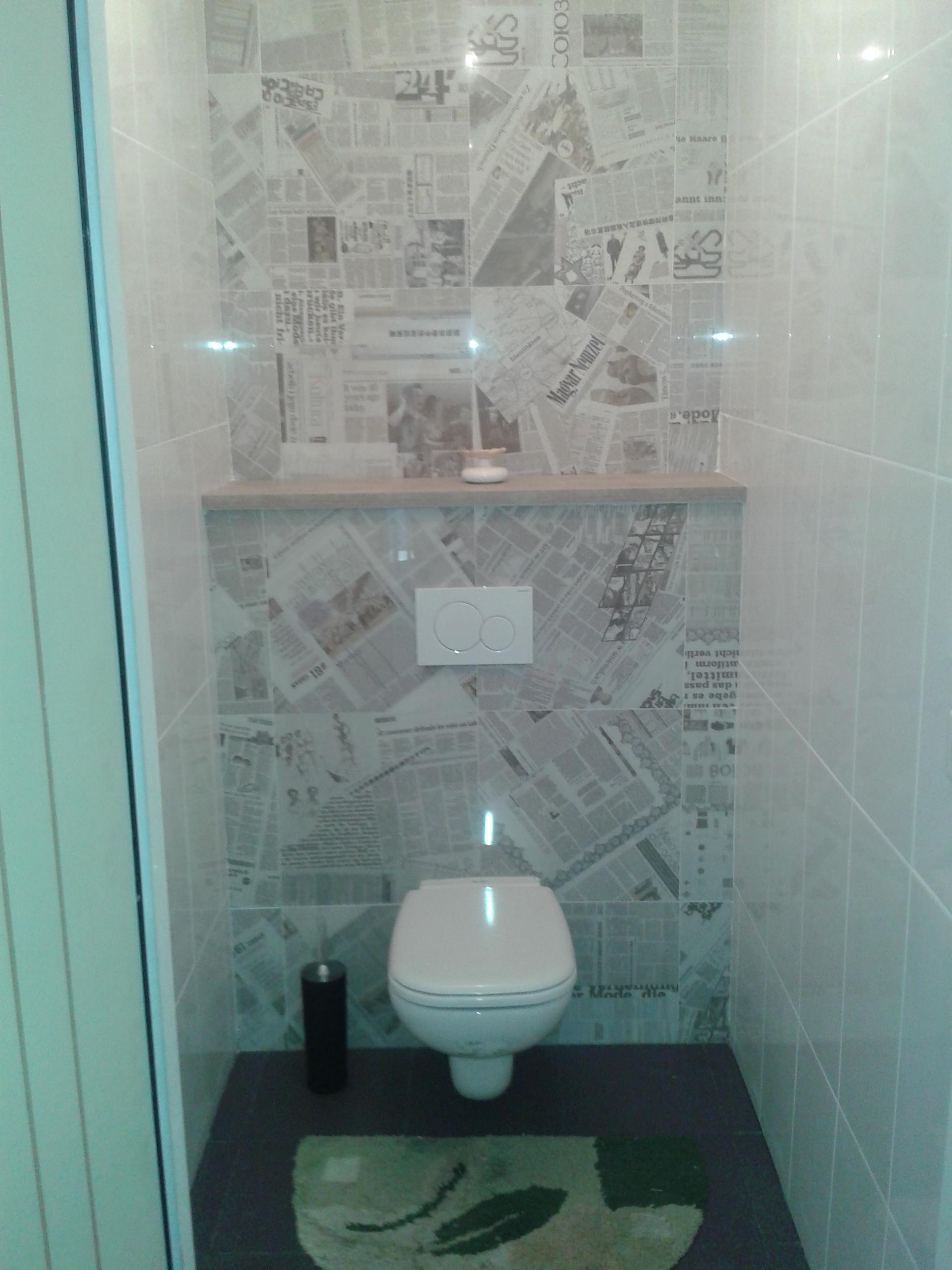 Habillage de wc supendu
