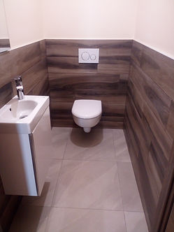 carrelage wc suspendu imitation parquet murale
