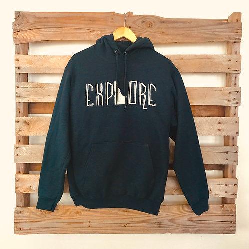EXPLORE Premium Black Hoodie