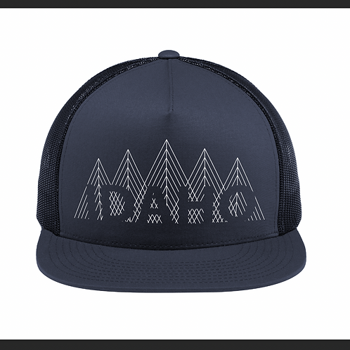 Lined Forest Navy Snapback