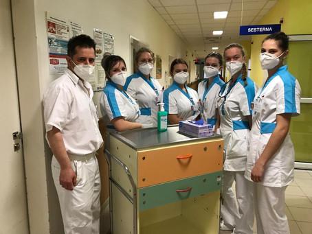 Z praxe třídy 3. C v Nemocnici Třebíč dne 8. 4. 2021