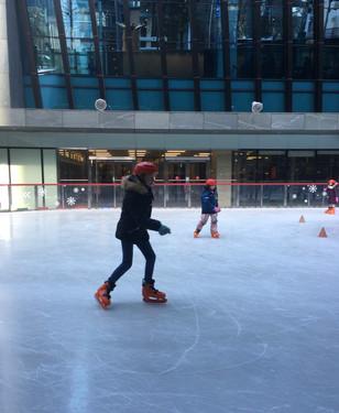 Ice Skating in Gangnam
