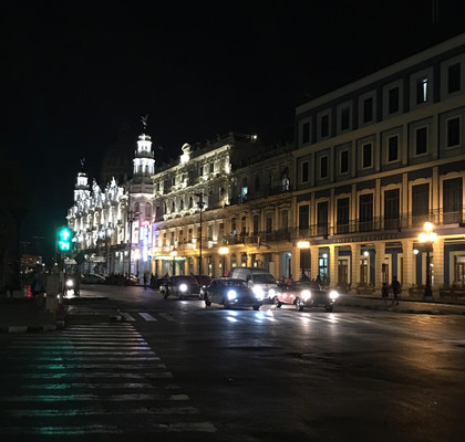 The streets at night