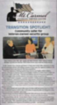 Mt. Carmel Veterans Service Center Transition Spotlight: Community safer for Veteran-owned security group