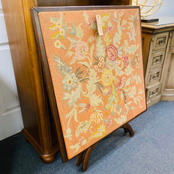 Antique Table With Embroidered Top
